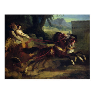 Ancient Chariot Race Postcard