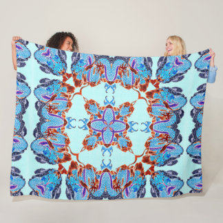 Ancient Chinese Dragon Silk Hand Painted Mandala Fleece Blanket