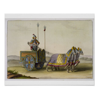 Ancient Chinese War Chariot, from 'Le Costume Anci Poster