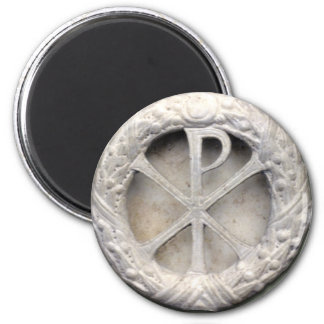 Ancient Christogram 2 Inch Round Magnet