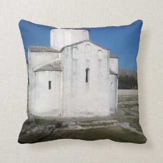 Ancient church throw pillow