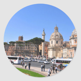 Ancient city of Rome, Italy Classic Round Sticker