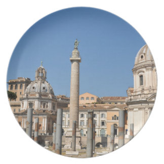 Ancient city of Rome, Italy Plate
