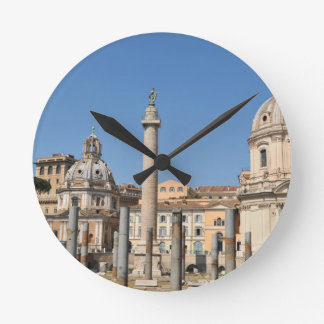 Ancient city of Rome, Italy Round Clock