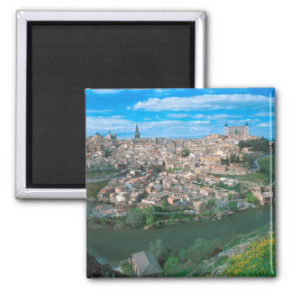 Ancient city of Toledo, Spain. Square Magnet