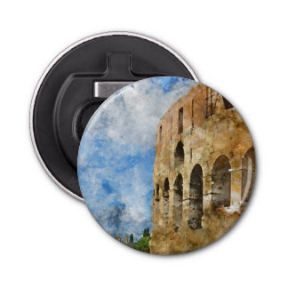 Ancient Colosseum in Rome Italy Bottle Opener