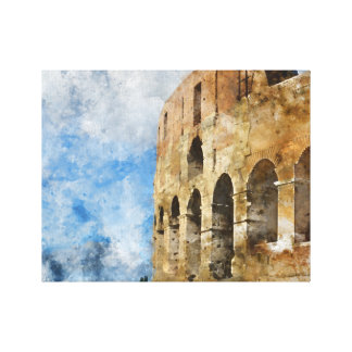 Ancient Colosseum in Rome Italy Canvas Print