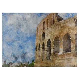 Ancient Colosseum in Rome Italy Cutting Board