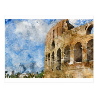 Ancient Colosseum in Rome Italy Postcard