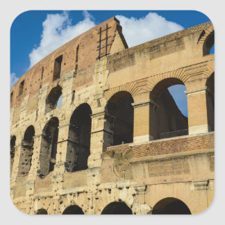 Ancient Colosseum in Rome, Italy Square Sticker