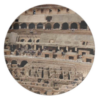 ancient crumble building plate