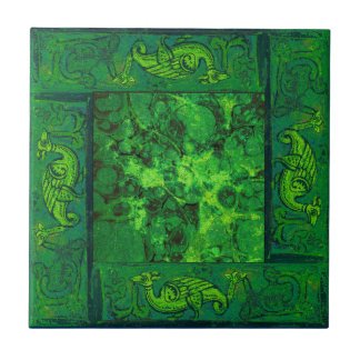 Ancient Designs In Emerald Third Of Four Tiles