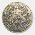 Ancient Dragon Round Sticker