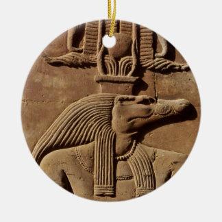 Ancient Egypt Art: Sobek Hieroglyphics Ornament