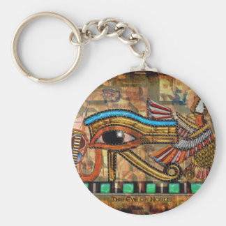 Ancient Egypt Eye of Horus Wadjet Keychain