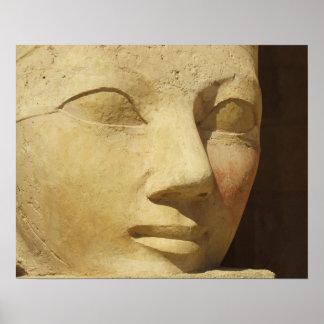 Ancient Egypt Hatshepsut statue temple travel Poster