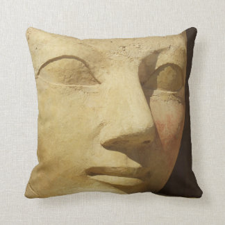 Ancient Egypt Hatshepsut statue temple travel Throw Pillow