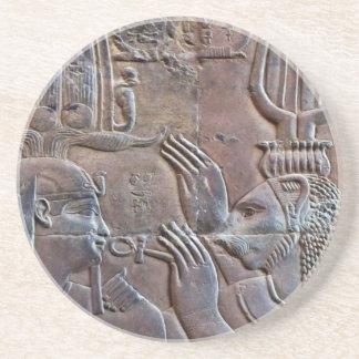 Ancient Egypt Hieroglyphics Carving Coaster