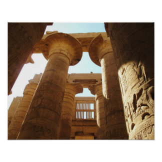Ancient Egypt Karnak Temple hieroglyphics travel Poster