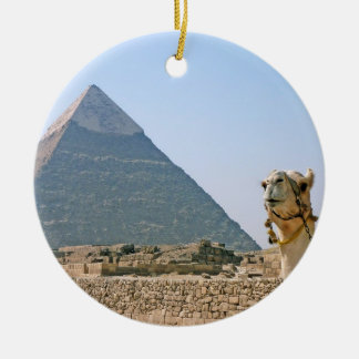Ancient Egypt: Pyramid and Camel Ceramic Ornament