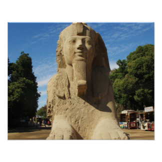 Ancient Egypt Sphinx travel photo Poster