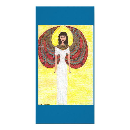 Ancient Egyptian Angel Custom Photo Card