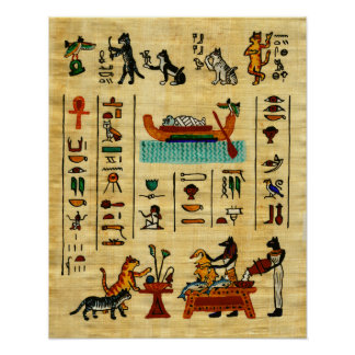 Ancient Egyptian Beloved Meows Cat Print