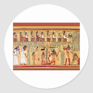 Ancient Egyptian Book of the Dead. Classic Round Sticker