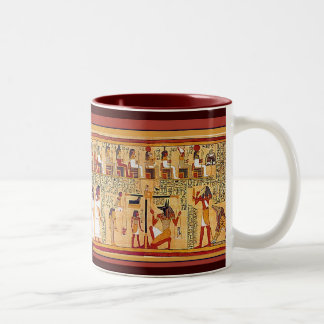 Ancient Egyptian Book of the Dead. Two-Tone Coffee Mug