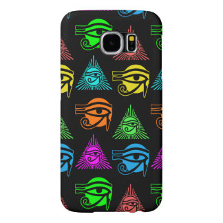 Ancient Egyptian Eye of Horus Multicolored Pattern Samsung Galaxy S6 Cases