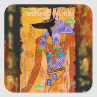 Ancient Egyptian God Anubis Gift Range Square Sticker