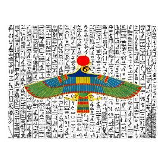Ancient Egyptian God Horus Hawk Postcard
