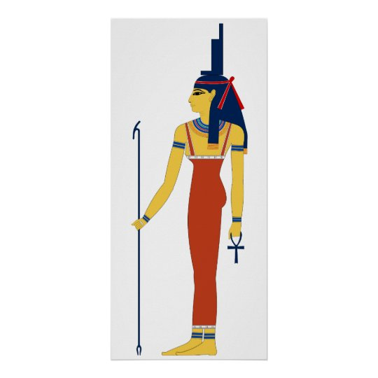 Ancient Egyptian Goddess Isis Poster