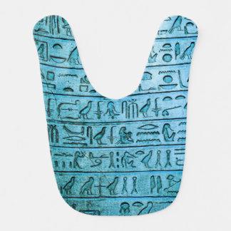 Ancient Egyptian Hieroglyphs Blue Bib