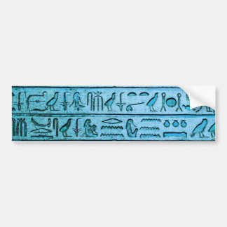 Ancient Egyptian Hieroglyphs Blue Bumper Sticker