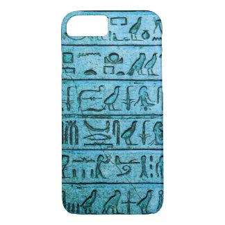 Ancient Egyptian Hieroglyphs Blue iPhone 7 Case
