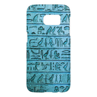 Ancient Egyptian Hieroglyphs Blue Samsung Galaxy S7 Case