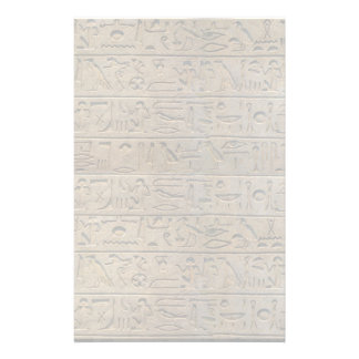 Ancient Egyptian Hieroglyphs Design Writing Paper