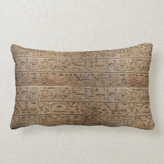 Ancient Egyptian Hieroglyphs Designer Gift Lumbar Pillow
