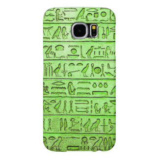 Ancient Egyptian Hieroglyphs Green Samsung Galaxy S6 Cases