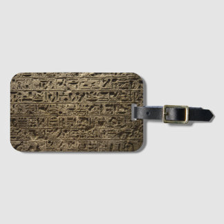 ancient egyptian hieroglyphs luggage tag
