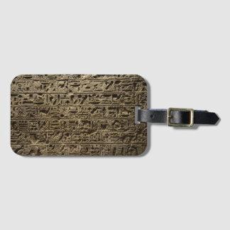 ancient egyptian hieroglyphs luggage tag