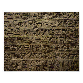 ancient egyptian hieroglyphs poster