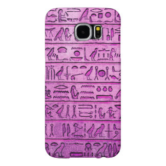 Ancient Egyptian Hieroglyphs Purple Samsung Galaxy S6 Cases