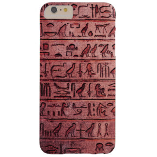 Ancient Egyptian Hieroglyphs Red Barely There iPhone 6 Plus Case