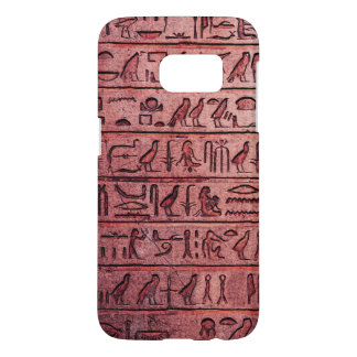 Ancient Egyptian Hieroglyphs Red Samsung Galaxy S7 Case