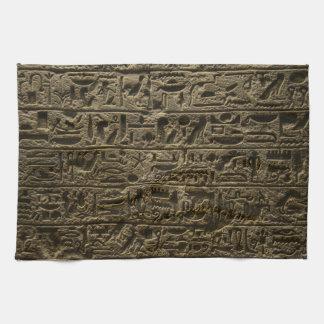 ancient egyptian hieroglyphs towel