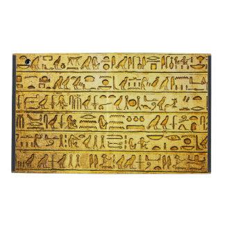 Ancient Egyptian Hieroglyphs Yellow iPad Case