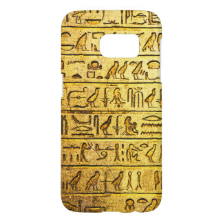Ancient Egyptian Hieroglyphs Yellow Samsung Galaxy S7 Case