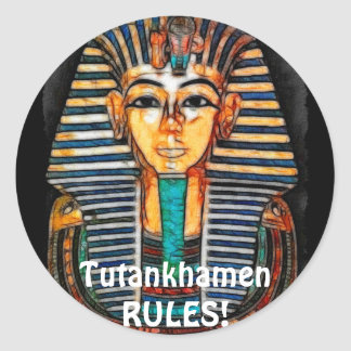 Ancient Egyptian Pharaoh Tutankhamen Classic Round Sticker